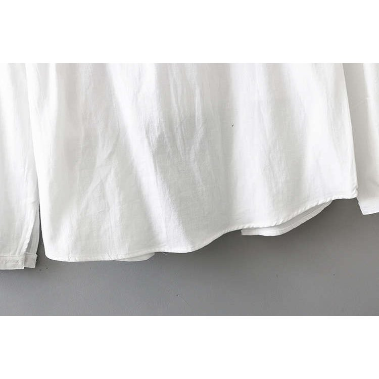 シャツ 長袖 トップス ワイシャツ レディース 秋 コットン 綿 シャツブラウス 綿シャツ 通気性 シンプル ボタン留め 前開き 着心地いい カジュアル|fukumarufukumaru|15