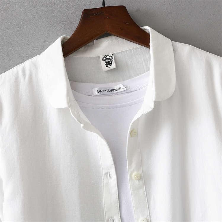 シャツ 長袖 トップス ワイシャツ レディース 秋 コットン 綿 シャツブラウス 綿シャツ 通気性 シンプル ボタン留め 前開き 着心地いい カジュアル|fukumarufukumaru|09