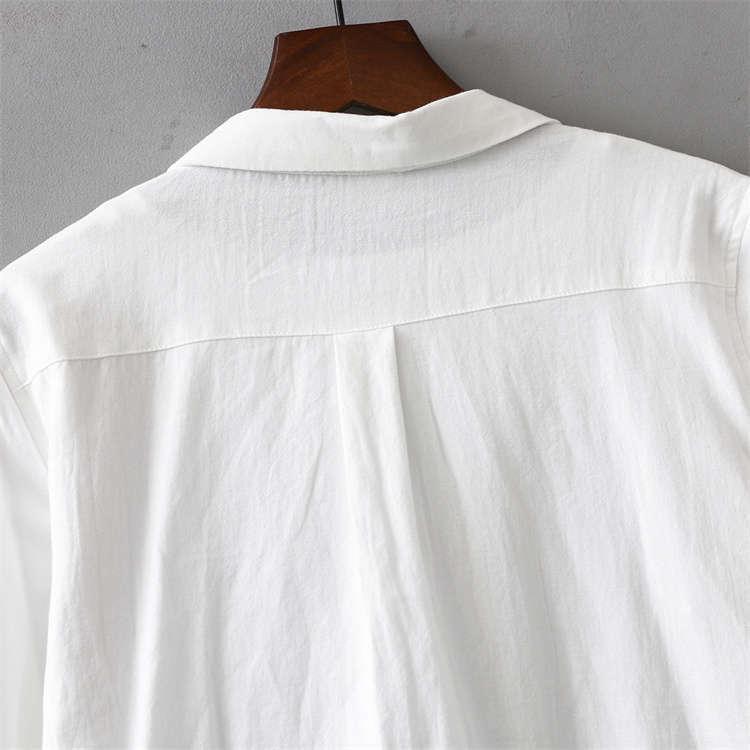シャツ 長袖 トップス ワイシャツ レディース 秋 コットン 綿 シャツブラウス 綿シャツ 通気性 シンプル ボタン留め 前開き 着心地いい カジュアル|fukumarufukumaru|10