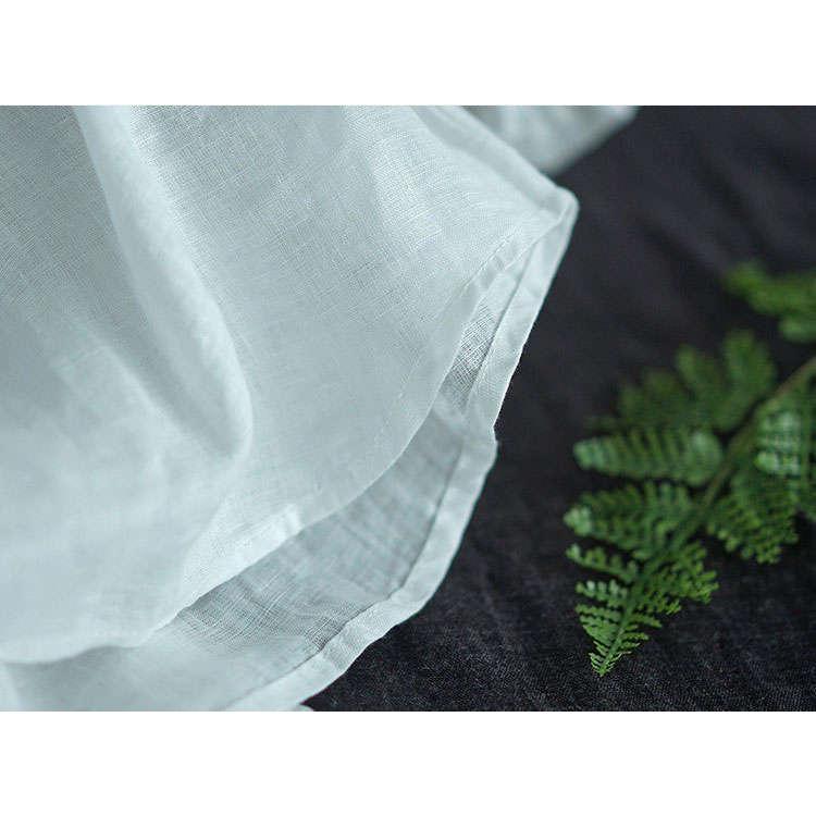 シャツ リネンシャツ 綿麻シャツ シャツブラウス 7分袖 プリーツ レディース トップス ボタン飾り シースルー 通気性 着まわせ 春秋 カジュアル 30代 40代|fukumarufukumaru|13