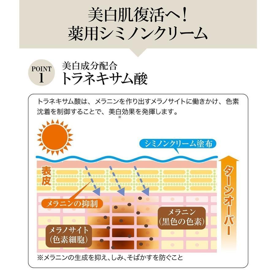 トラネキサム酸配合 薬用 シミノンクリーム 20g 医薬部外品 日本製 シミ 美白 そばかす 乾燥肌 くすみ しみ取り 肌あれ|fukumimi-shoten|05