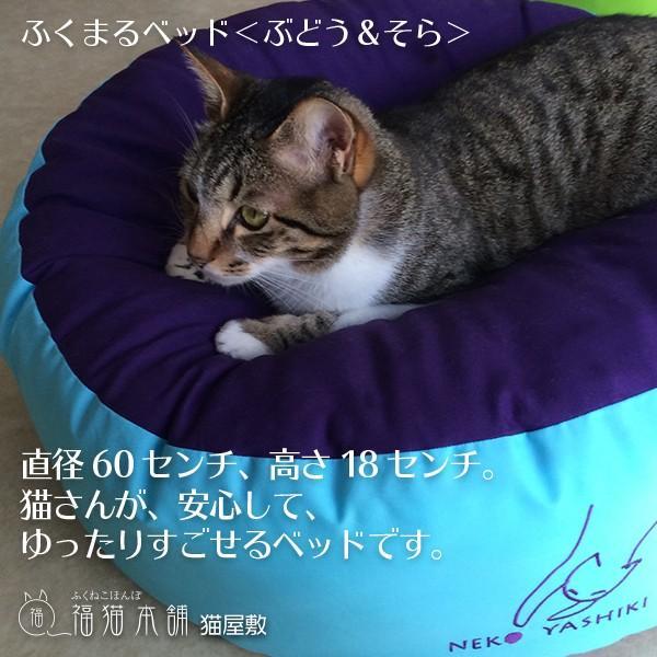 ふくまるベッド(ぶどう&そら)猫さんの大型ベッド|fukunekohonpo|02