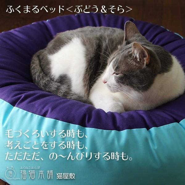 ふくまるベッド(ぶどう&そら)猫さんの大型ベッド|fukunekohonpo|05