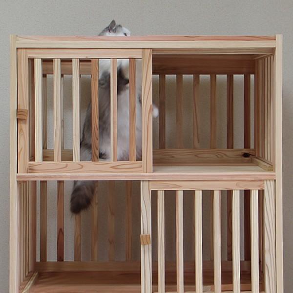 猫さんの無垢ケージ(白木タイプ)4段|fukunekohonpo|08