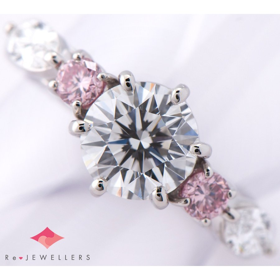 【初回限定】 ミキモト ダイヤモンド1.20ct ピンクダイヤモンド 計0.20ct ダイヤモンド プラチナ950 7号 リング・指輪【】, ユフインチョウ 80b7ced3