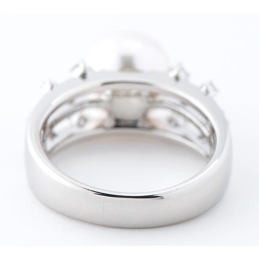 田崎真珠 10.3mm アコヤ真珠 ダイヤモンド 計0.21ct プラチナ900 17号 リング・指輪【中古】 fukuoka-gem-market 04