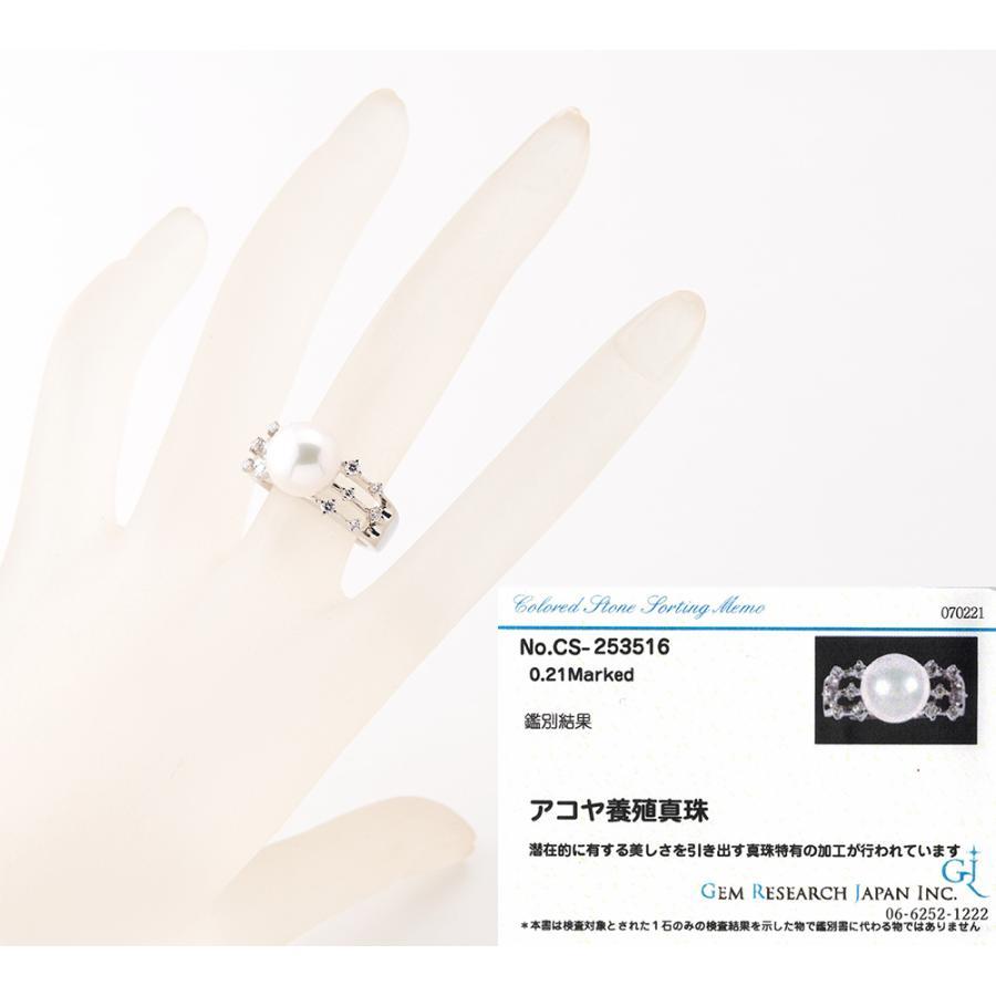 田崎真珠 10.3mm アコヤ真珠 ダイヤモンド 計0.21ct プラチナ900 17号 リング・指輪【中古】 fukuoka-gem-market 05