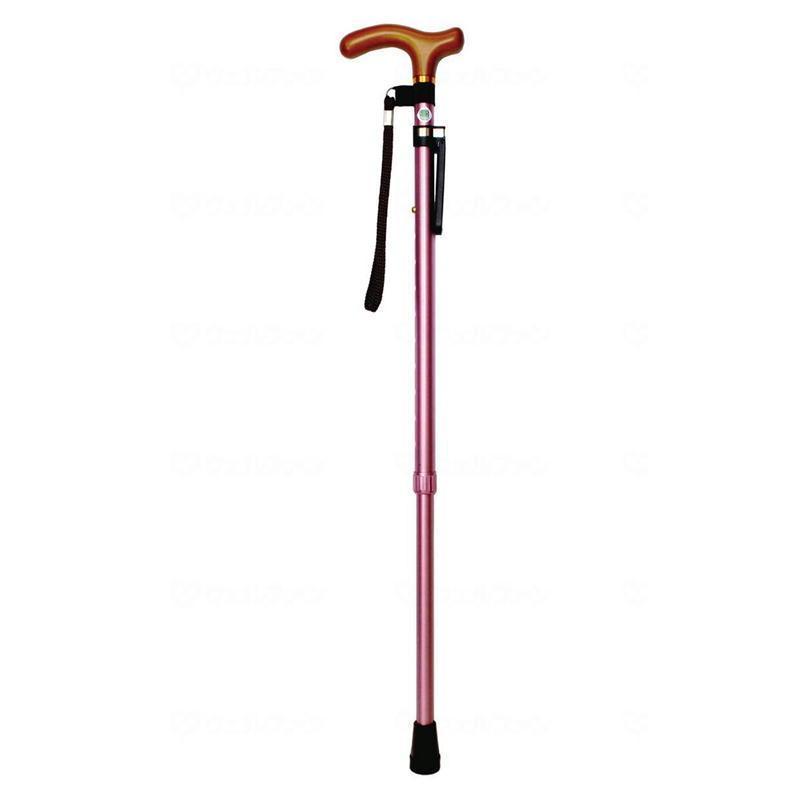 超安い品質 カラーステッキ 171PKT 介護用品 マックスファクトリー シニア向け 高齢者 ピンク 伸縮杖 杖ピタ付 伸縮タイプ 10段階調整-介護用品