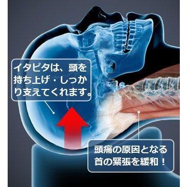 新型!薬を使わない頭痛解消法イ タピタ 毎日たった10分横たわる だけの頭痛予防枕|fukustore|06