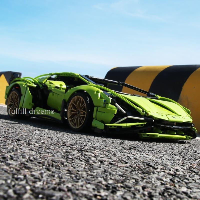 レゴ テクニック 互換品 ランボルギーニ シアン FKP37 デザイン スーパーカー スポーツカー レースカー 42115|fulfilldream