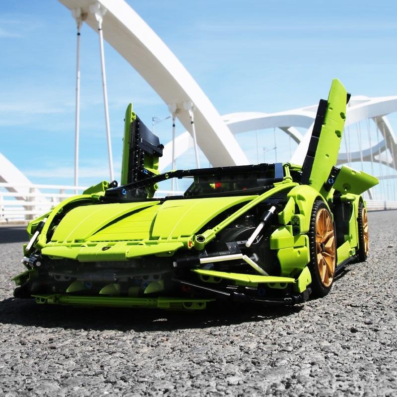 レゴ テクニック 互換品 ランボルギーニ シアン FKP37 デザイン スーパーカー スポーツカー レースカー 42115|fulfilldream|02
