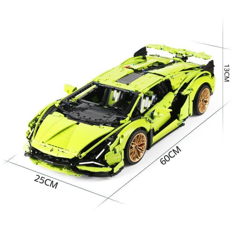 レゴ テクニック 互換品 ランボルギーニ シアン FKP37 デザイン スーパーカー スポーツカー レースカー 42115|fulfilldream|12