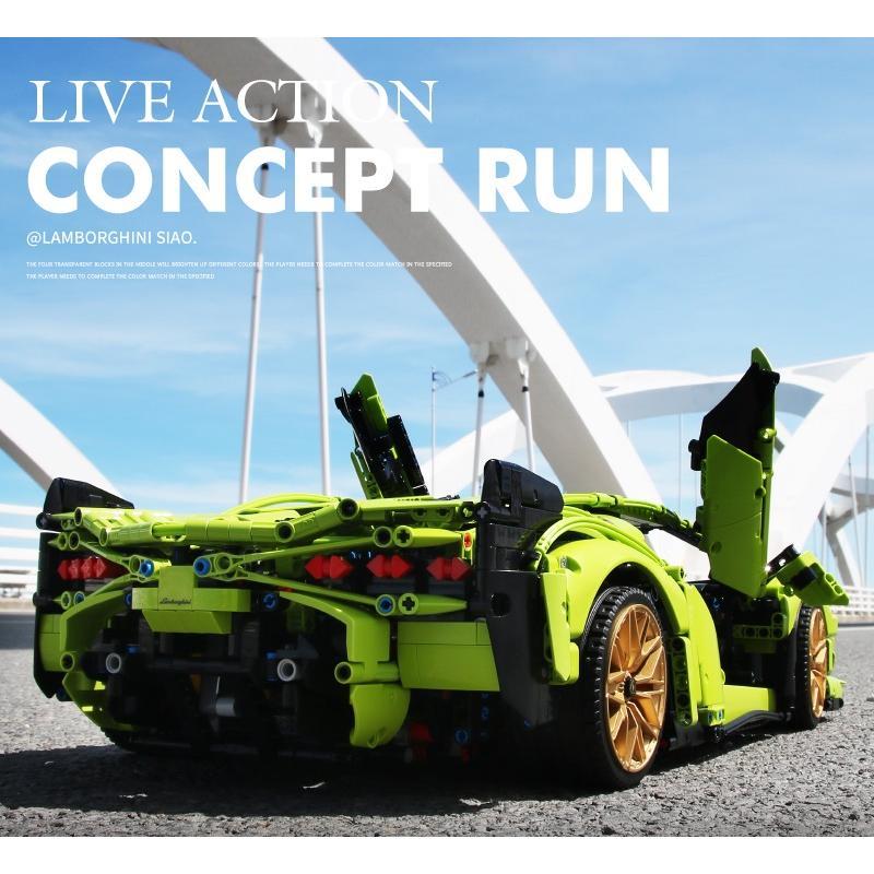 レゴ テクニック 互換品 ランボルギーニ シアン FKP37 デザイン スーパーカー スポーツカー レースカー 42115|fulfilldream|03