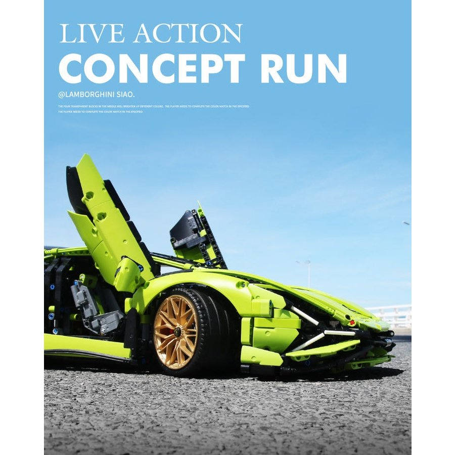 レゴ テクニック 互換品 ランボルギーニ シアン FKP37 デザイン スーパーカー スポーツカー レースカー 42115|fulfilldream|04