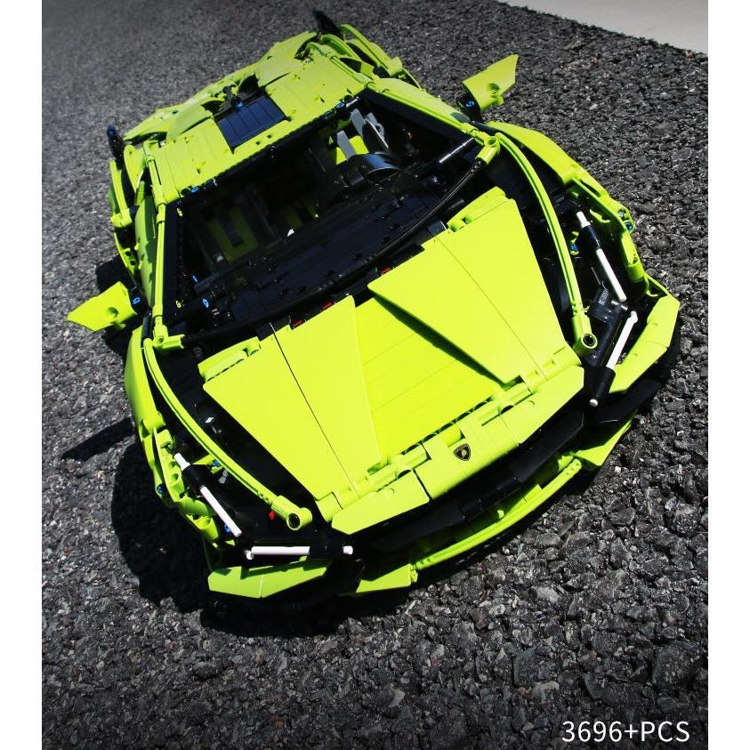 レゴ テクニック 互換品 ランボルギーニ シアン FKP37 デザイン スーパーカー スポーツカー レースカー 42115|fulfilldream|05