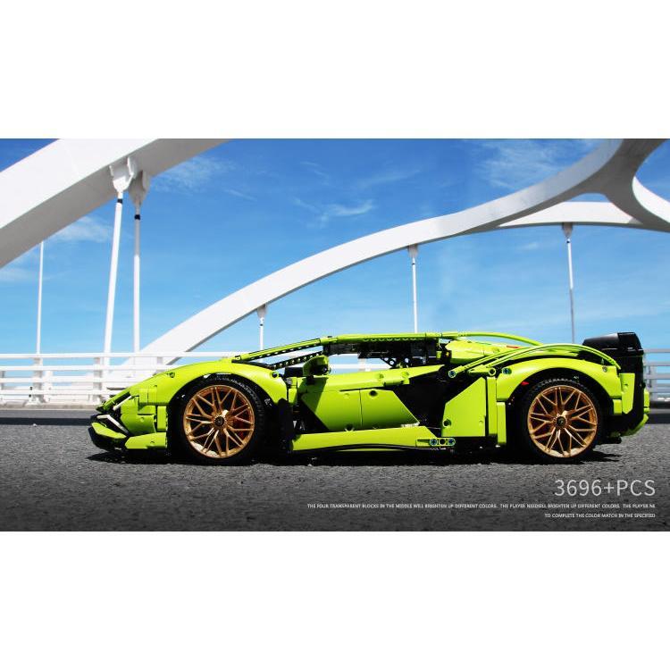 レゴ テクニック 互換品 ランボルギーニ シアン FKP37 デザイン スーパーカー スポーツカー レースカー 42115|fulfilldream|06
