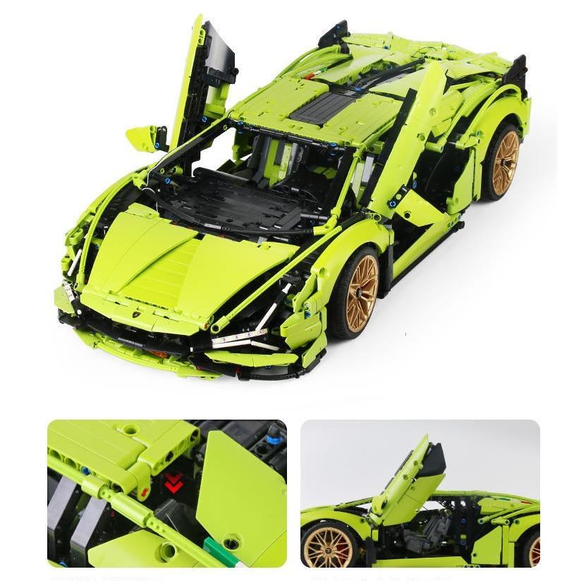 レゴ テクニック 互換品 ランボルギーニ シアン FKP37 デザイン スーパーカー スポーツカー レースカー 42115|fulfilldream|07