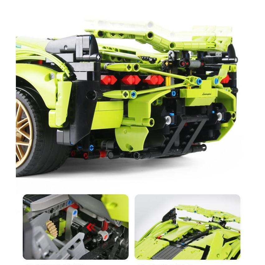 レゴ テクニック 互換品 ランボルギーニ シアン FKP37 デザイン スーパーカー スポーツカー レースカー 42115|fulfilldream|09