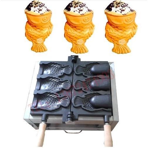たい焼き器 電気 3鋳型 国内電圧対応 ツール付き 口開き魚 たい焼きパフェ 屋台 イベント たい焼き機