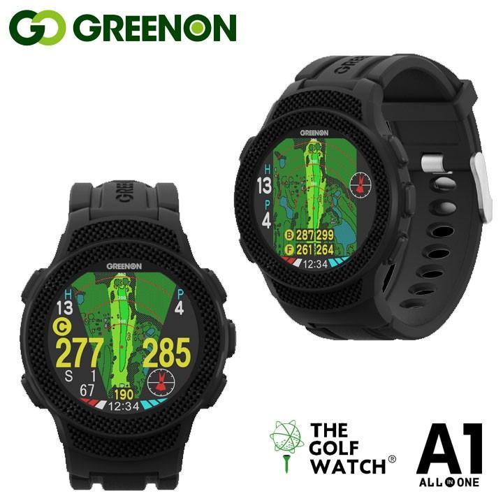 グリーンオン ザ ゴルフウォッチ A1 腕時計型 GPS距離計測器 緑 On THE GOLF WATCH A1