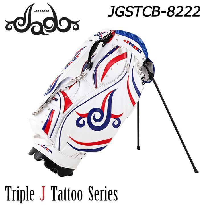 ジャド JGSTCB-8222 Triple J Tattooシリーズ 軽量スタンド キャディバッグ ホワイトネイビーレッド 9型 4kg JADO 2019
