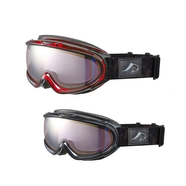 【送料無料】AXE(アックス) メンズ 大型メガネ対応 ダブルレンズ ゴーグル AX888-WPK BK・シャイニーブラック(北海道・沖縄・離島は別料金)