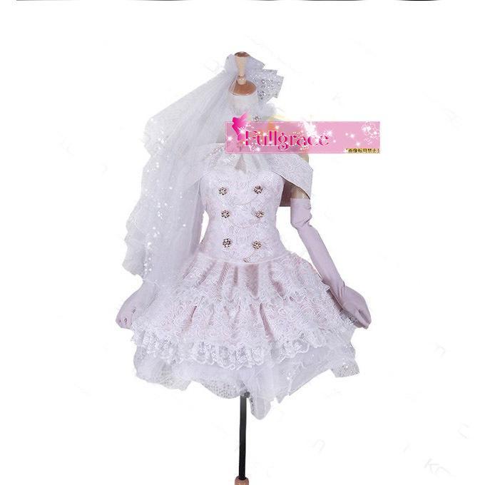 コスプレ衣装 ラブライブ SR 6月編 花嫁姿可愛い 西木野真姫 コスプレ衣装 ウェディングドレス