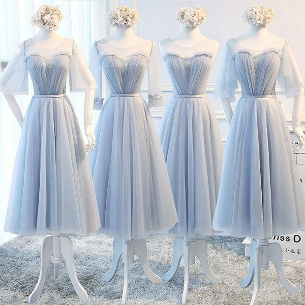 ミモレ丈ドレス パーティードレス 小さいサイズ 大きいサイズ ワンピース 結婚式