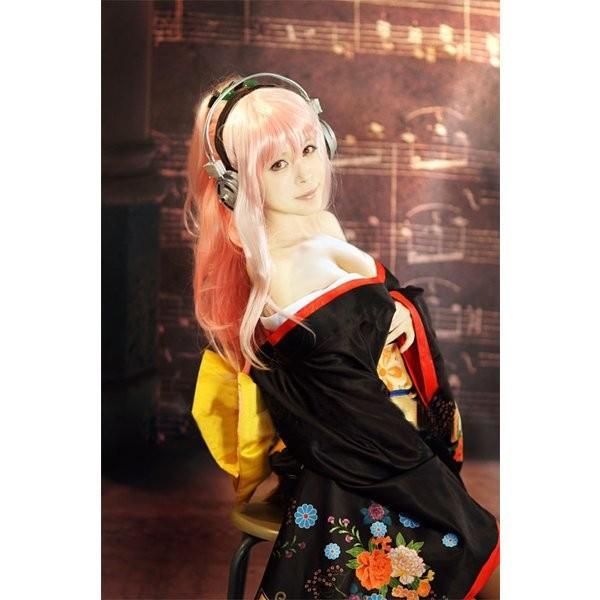 すーぱーそに子 高品質コスプレ衣装 すーぱーそに子(すーぱーそにこ、SUPER SONICO) 和服 着物 制服 仮装 変装fh015f0f0f0