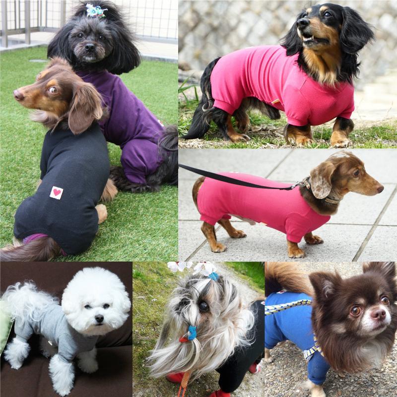 シンプル長袖インナーつなぎ【ネコポス値2】日本製 犬の服 洋服 ペット ドッグ ウェア fullofvigor-yshop 05