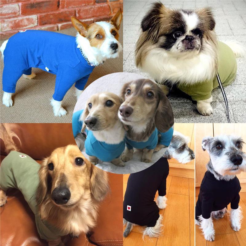 シンプル長袖インナーつなぎ【ネコポス値2】日本製 犬の服 洋服 ペット ドッグ ウェア fullofvigor-yshop 06