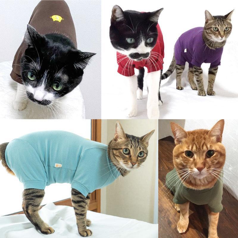 【2020年冬新作】【猫専用】猫用シンプル袖付きつなぎ【ネコポス値2】|fullofvigor-yshop|04