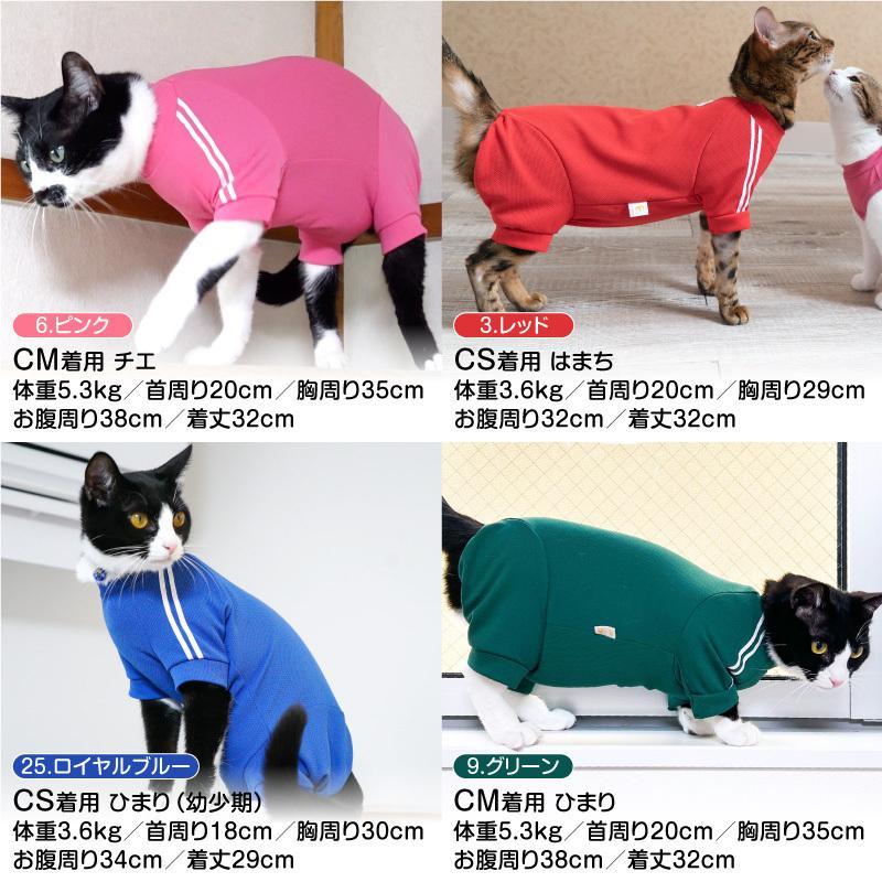 【2020春夏新作】【猫専用】猫用体操服ジャージつなぎ【ネコポス値2】フルオブビガー 猫の服 洋服 ペット キャット ウェア|fullofvigor-yshop|08