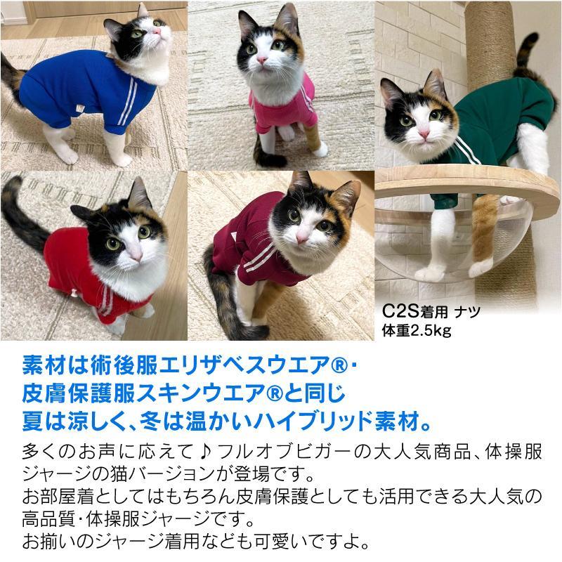 【2020春夏新作】【猫専用】猫用体操服ジャージつなぎ【ネコポス値2】フルオブビガー 猫の服 洋服 ペット キャット ウェア|fullofvigor-yshop|10