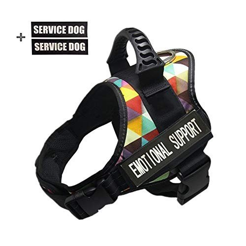 Dog Vest Harness W// Service Dog Patches Reflective Collar Small Large Medium XL