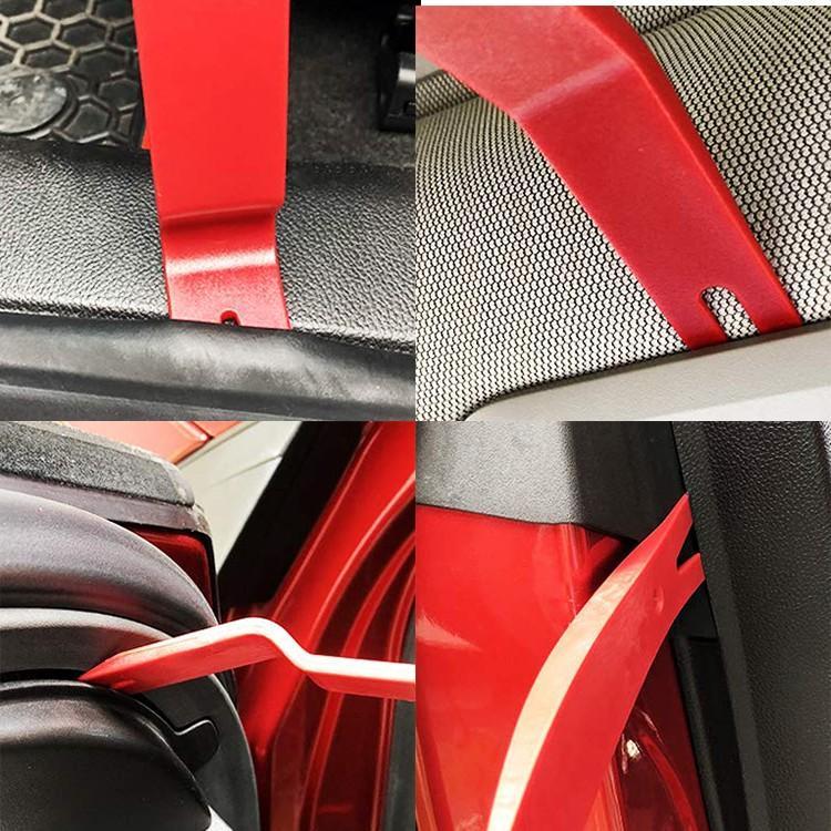 車内用 内張りはがし7点セット 樹脂製リムーバー5点+クリップクランプツール+プライヤー型ツール 内装外しをDIYで 傷をつけない強化樹脂製 G392S7RED funlife 05