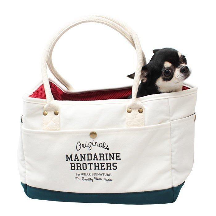 犬 キャリーバッグ マンダリンブラザーズ 小型犬 チワワ トイプードル ポメラニアン おしゃれ ミニバック MANDARINE BROTHERS / MINI CARRY BAG funnish 13
