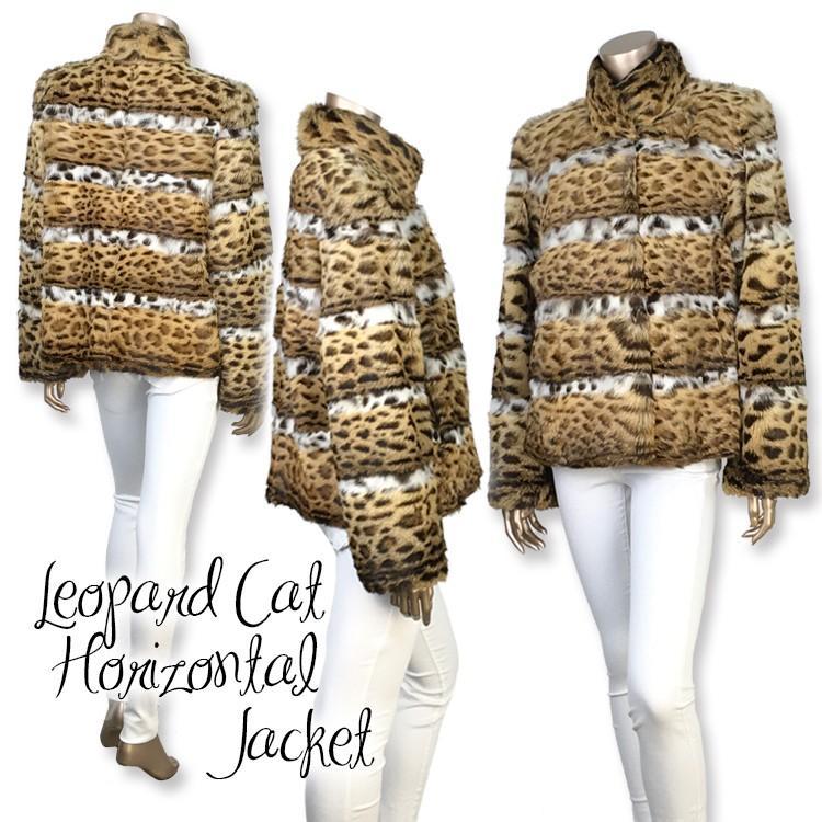 レオパードキャット ホリゾンタルホワイトベリージャケット|furaurore