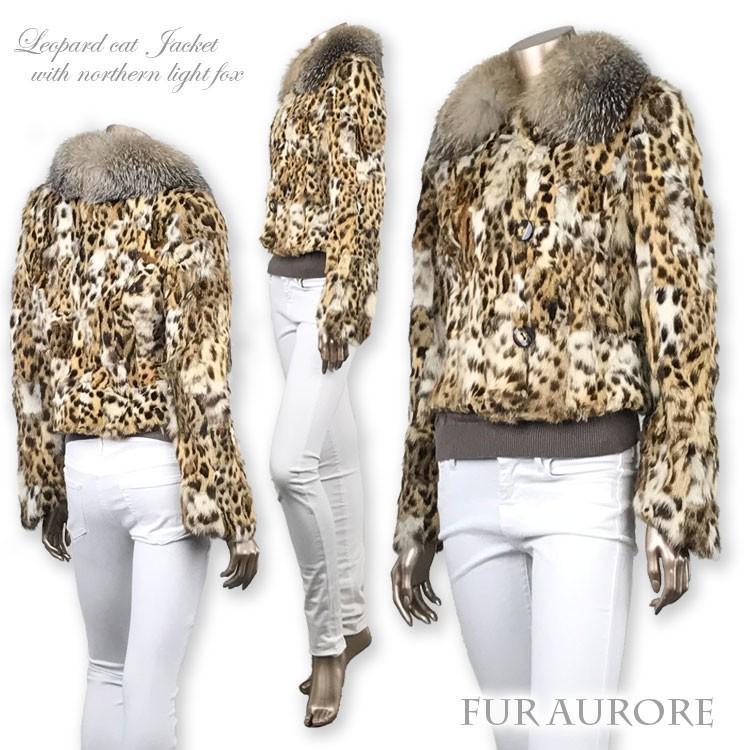 レオパードキャットジャケット ノーザンライトフォックス衿15468|furaurore