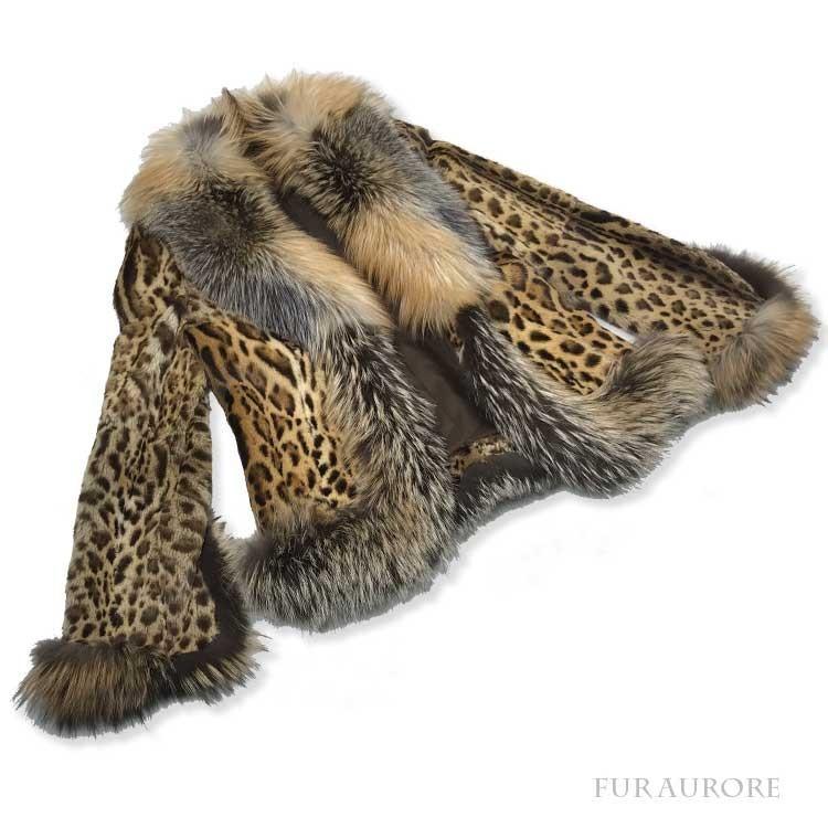 レオパードキャット抜毛ジャケット&SAGAゴールデンクロスフォックストリミングジャケット ご愛顧感謝 furaurore 02
