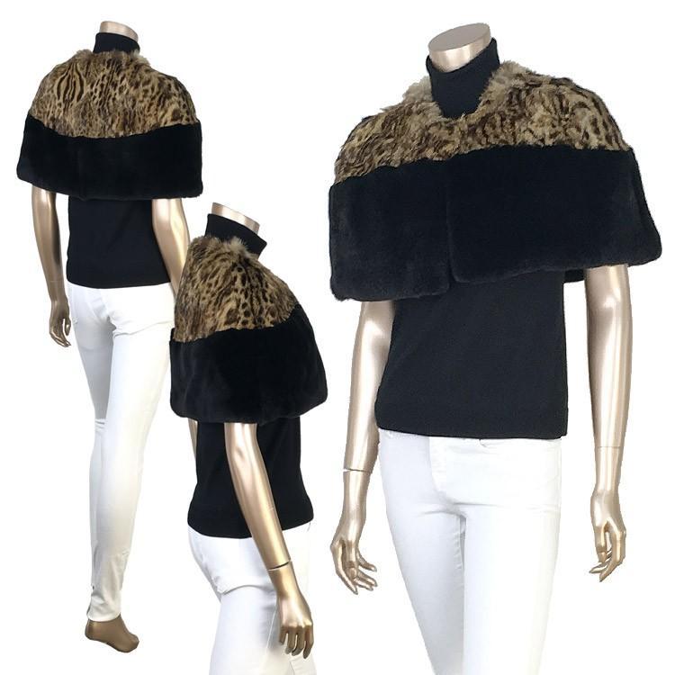 レオパードキャット&セレクトレッキスミニケープ日本縫製正規品 furaurore