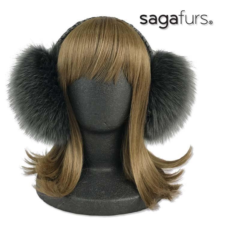 SAGAフォックスイヤーマフ 英国ツイードヘッドバンド☆★☆ furaurore 03