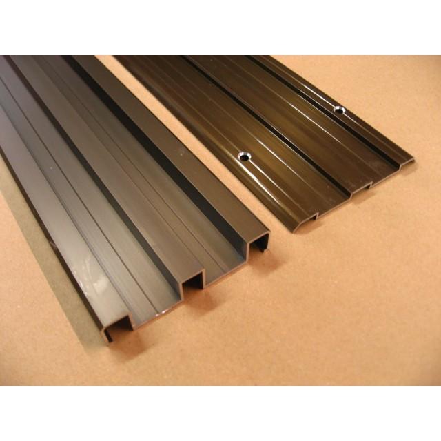 枠内幅:3600mm以下対応です。(frame-ha-009)引き戸アルミ鴨居·平レール (上下セット) 引き戸 間仕切り 引き戸レール スライド