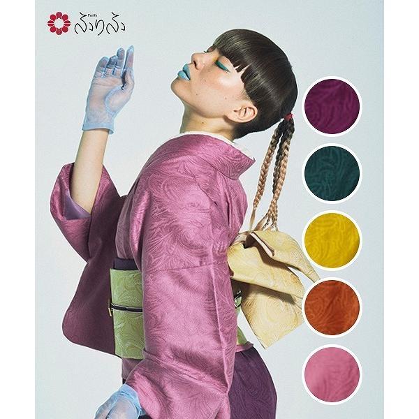 ランデブー着物(上)<br>ふりふオリジナル 二部式 着物 きもの 色無地 和風 和色 無地 カジュアル ペイズリージ模様 色 カラー カラフル パーティー フォーマル furifu