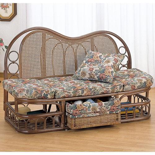2人掛け籐カウチソファ 幅125cm y611b 籐家具 籐 ラタン家具 ラタン ラタン製 椅子 チェア ソファー ソファ カウチソファ カウチソファー 安い