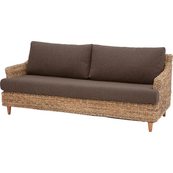 完成品 3人掛けソファ ラタン アジアン家具 籐椅子 インテリア 幅168cm クラール ソファ ソファー 三人掛けソファ