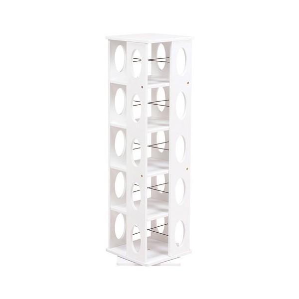 回転式タワー本棚 幅34cm高さ120cm ホワイト MUD-6100WH 安い 安い
