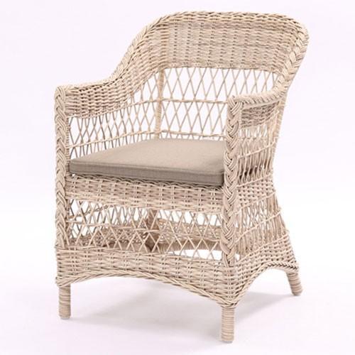 リゾートガーデン アームチェアー 1人掛け チェア チェア チェア 椅子 幅57cm シャロット 屋外対応ラタン調アルミフレーム イス いす クッション付き テラス ベランダ 安い 805