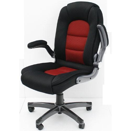 オフィスチェア レヴェリー 可動肘付 可動肘付 ブラック&レッド 安い