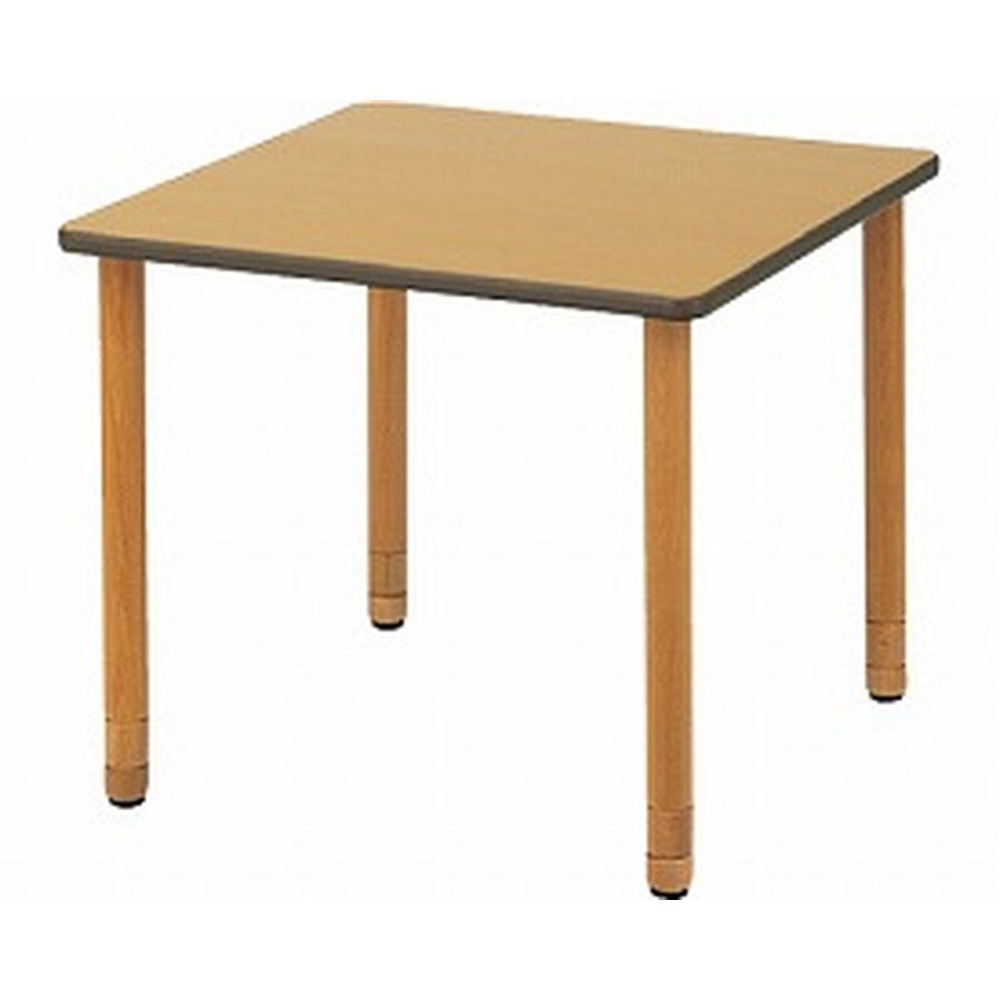 個人宅配達不可 施設用テーブル WSHタイプ 幅110×奥行110cm / DWT-1111-WSH ナチュラル 1台
